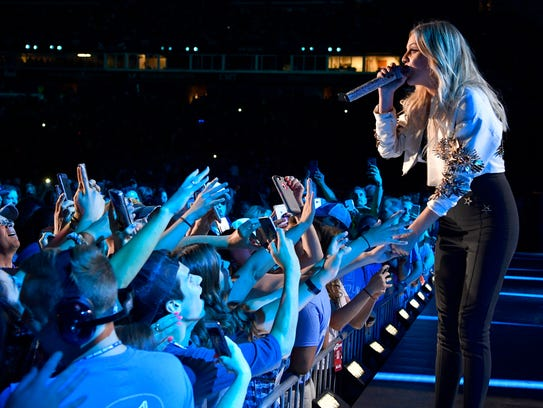 Kelsea Ballerini performs during the CMA Fest at Nissan
