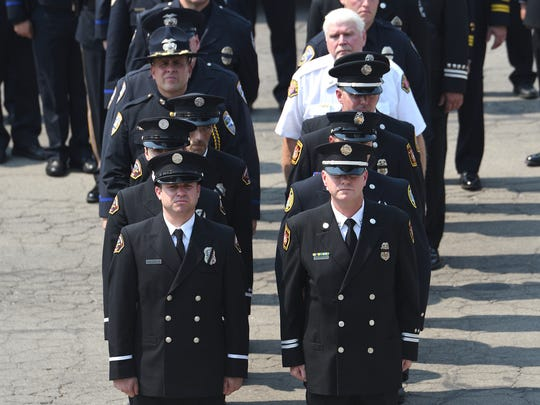 Firefighters prepare for Saturday's memorial service