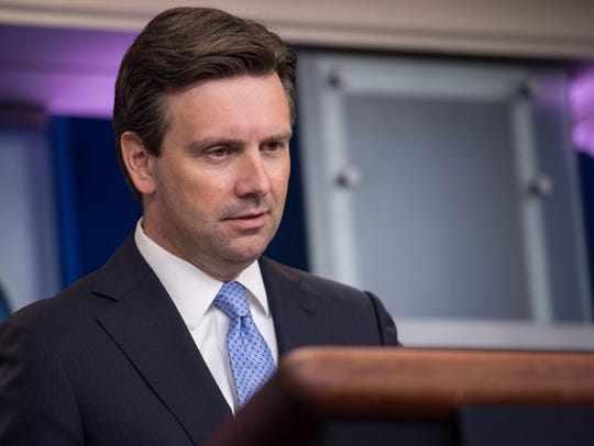 White House Press Secretary Josh Earnest at an Aug.