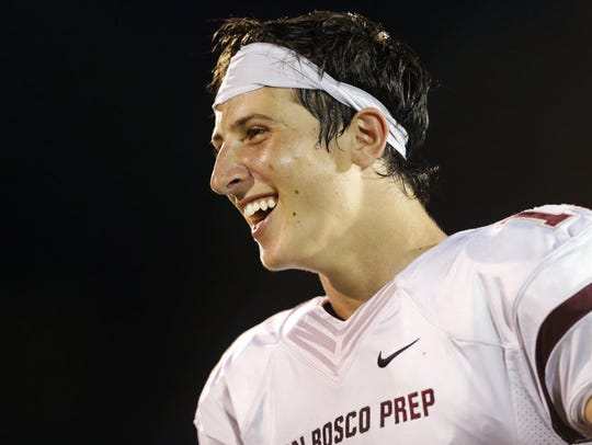 Sep 19, 2015; Cincinnati, OH, USA; Don Bosco Prep quarterback