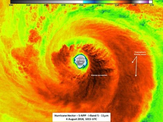 Hurricane Hector Aug. 4, 2018