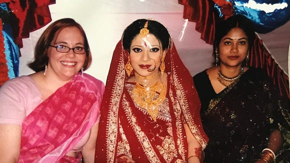 Abbey Doyle at a Bangladeshi wedding in 2003.