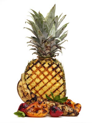 Grilled fruit Food and wine CP artwork as seen in Phoenix on May 6, 2015.
