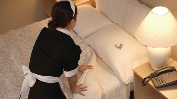 The NBC report included hidden camera video showing maids not changing the pillowcases when they changed the linens.