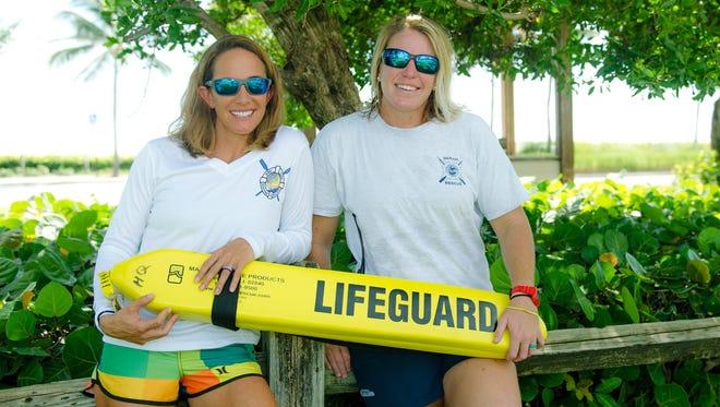 Lifeguards Jessica Ventura, at left, and Tiffany LaCasse-Johnson