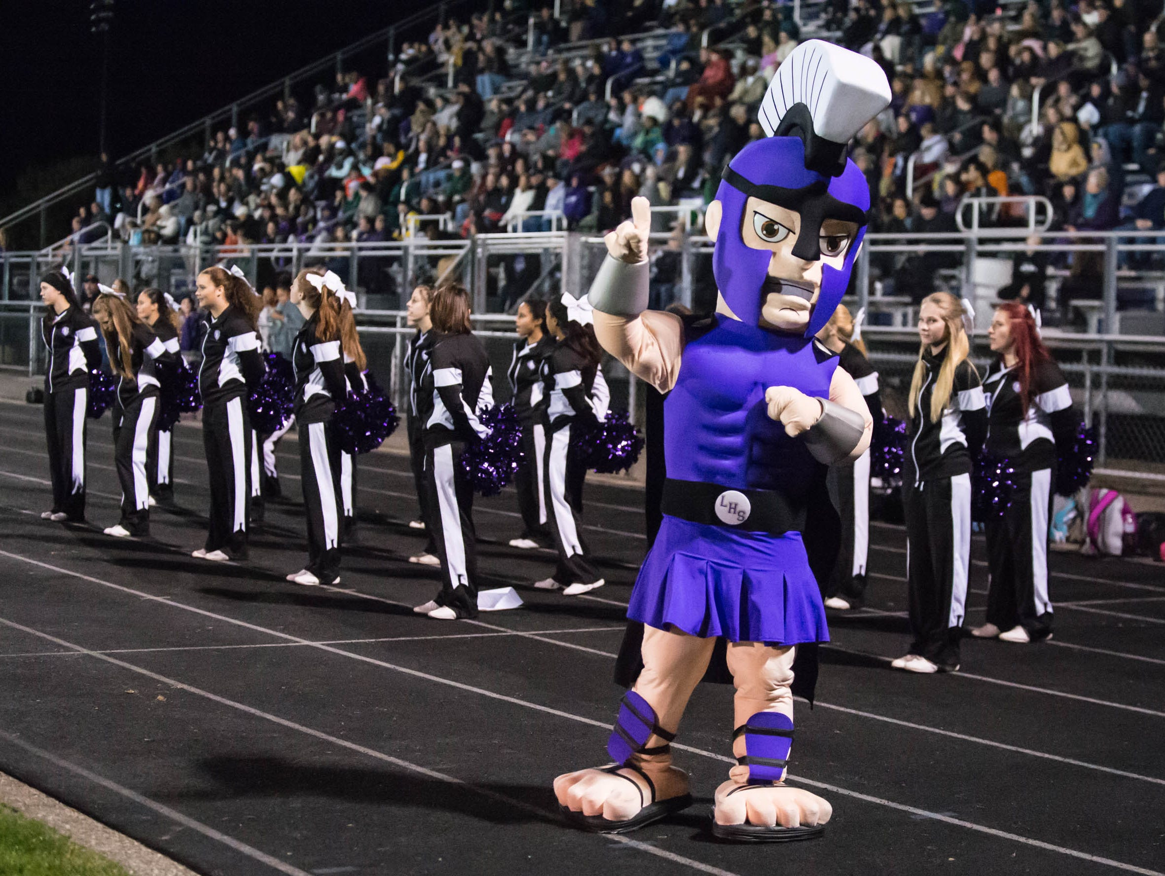 Lakeview mascot during Friday's game against Gull lake.