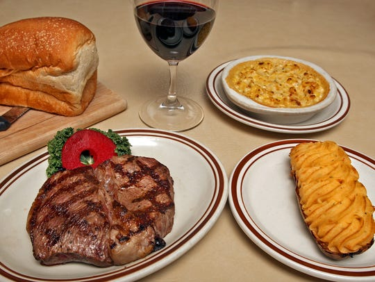 Dishes such as the Top Iowa Sirloin with cheesy corn,