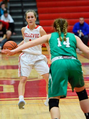 Bellevue's Cory Santoro scored 15 points in the third quarter Tuesday.