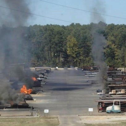 Clean Harbors Colfax conducts open burning of toxic