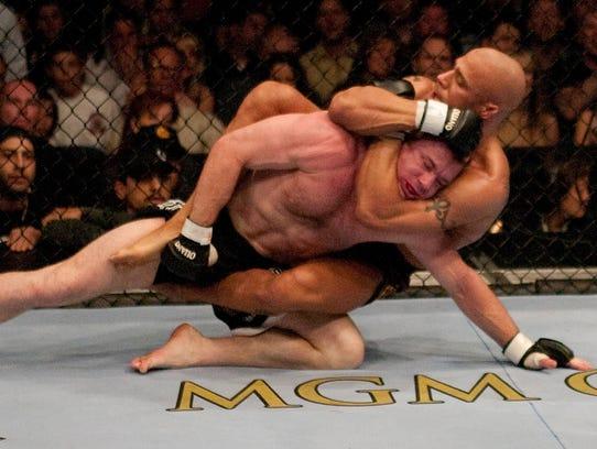 Frank Trigg, right, had 30 professional MMA fights