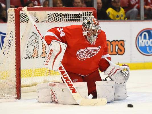NHL: San Jose Sharks at Detroit Red Wings
