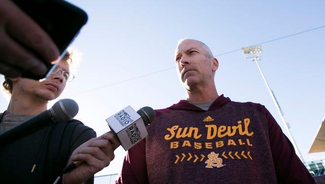 ASU head baseball coach Tracy Smith.