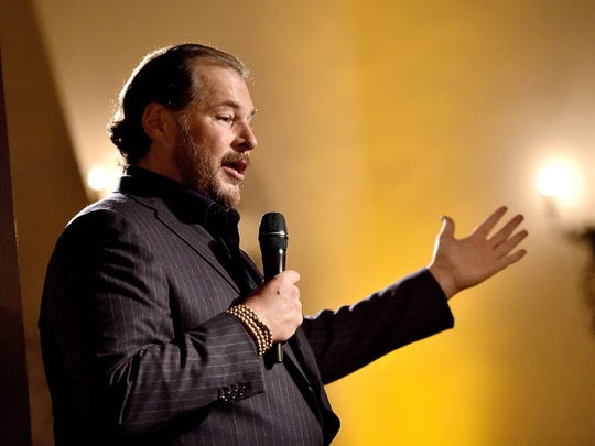 Marc Benioff of online sales software maker Salesforce.com