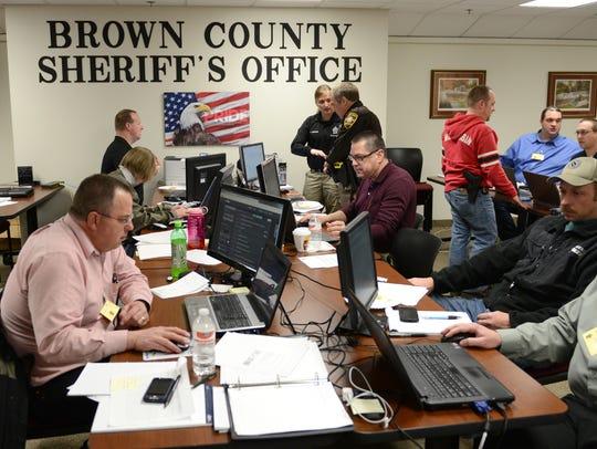 Investigators from several area law enforcement agencies