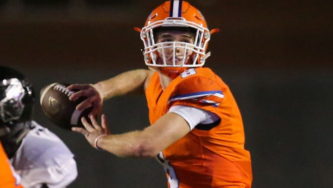 Central quarterback Maverick McIvor threw for 357 yards and four touchdowns, in addition to rushing for a game-high 86 yards and a TD in his first start at quarterback Friday on the road against Abilene High.