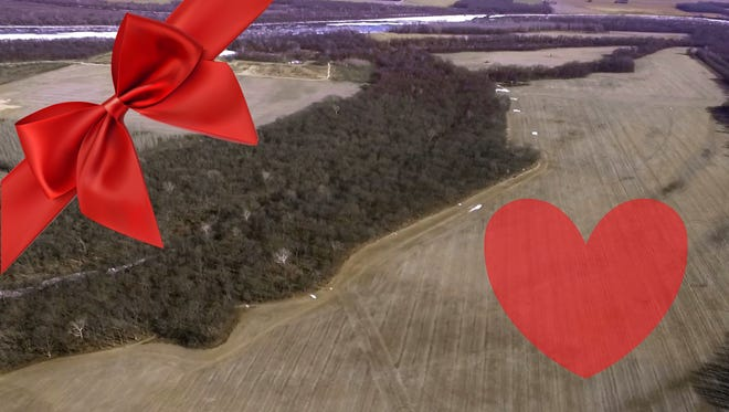 Greathouse Island on the Wabash River is being auctioned on Valentine's Day by William Wilson Auction-Realty, Inc.