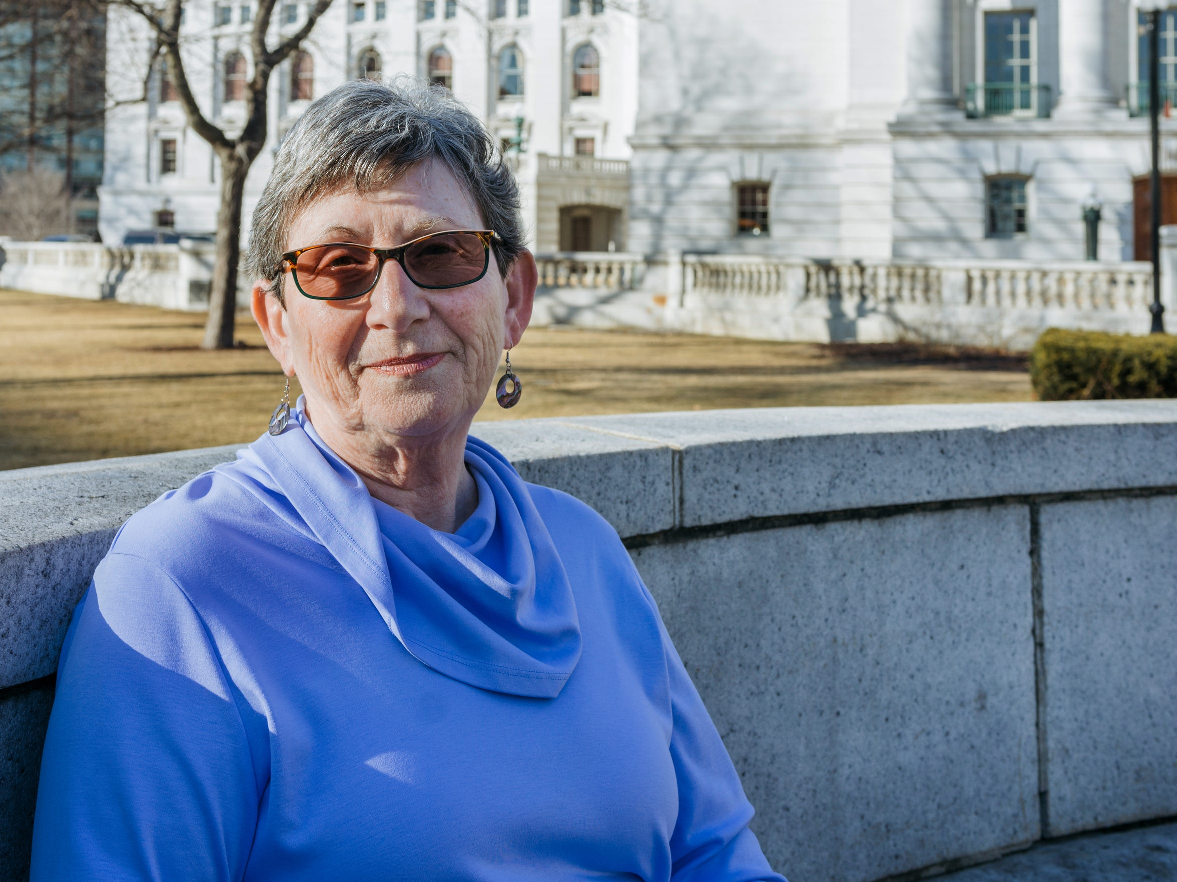 Sheila Plotkin is the founder of We, the Irrelevant, a grass-roots group dedicated to documenting the decreasing impact of citizens on state government. She was photographed at the state Capitol.