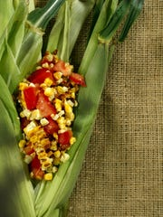 Charred Corn and Tomato Salad