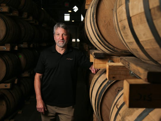Ken Lewis, owner of New Riff Distilling, pictured,