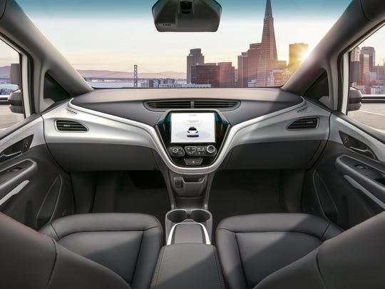 The Cruise AV self-driving car will operate without a driver, steering wheel, pedals or other manual controls. GM plans to begin deploying the car in 2019.
