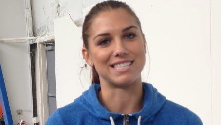Professional soccer player Alex Morgan
