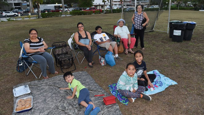 at Movies in the Park at Adelup on April 15. Movies in the Park will take place every Friday at sunset until April 29.