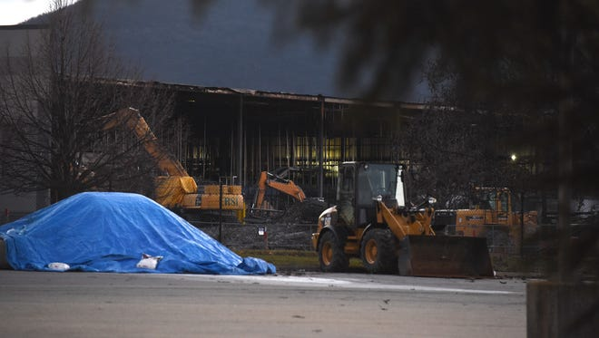 Heavy equipment is seen outside of the Gap Inc. distribution center on Saturday, Dec. 10, 2016.