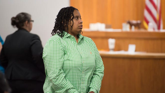 Lanadieal Ashe attends her resentencing hearing Monday, Dec. 18, 2017, at the St. Lucie County Courthouse in Fort Pierce.