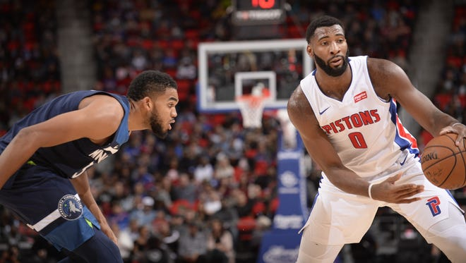 Dwane Casey said he's impressed with some of the Pistons' talented young players, including Andre Drummond.