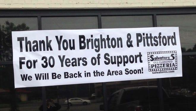Salvatore's Brighton closes