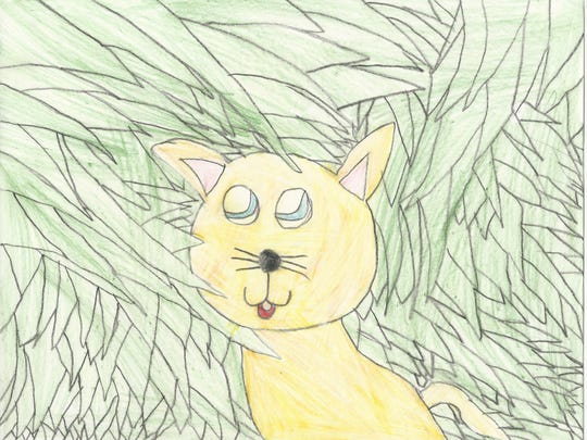 """Alexandra Figueroa took second place in the 7-8 category of 12th Annual Children's Art Contest """"Coloring the Earth."""""""