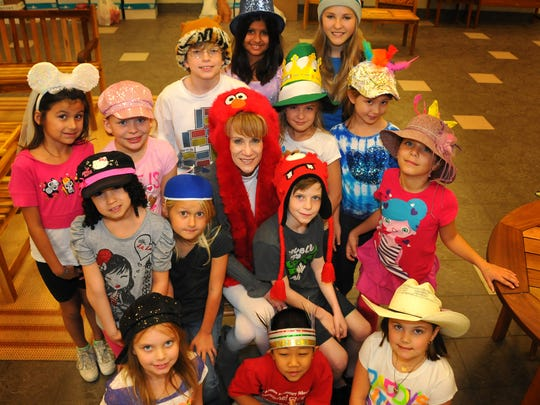 Students donated money to wear a hat at school to raise