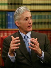 Rep. Trey Gowdy, R, S.C., sits with USA TODAY Washington