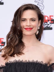 Actress Hayley Atwell attends the THREE Empire awards
