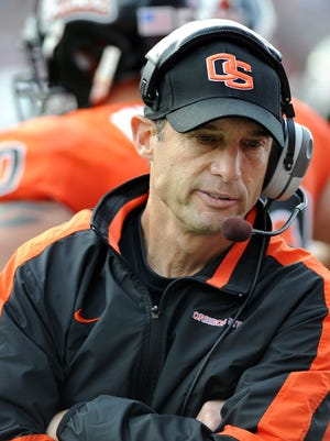 Nebraska coach Mike Riley, pictured her during his days at Oregon State, lost in his debut with the Cornhuskers. (AP Photo/Greg Wahl-Stephens)