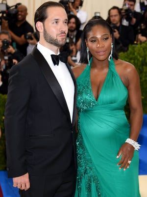 "Alexis Ohanian and Serena Williams attend the ""Rei Kawakubo/Comme des Garcons: Art Of The In-Between"" Costume Institute Gala at Metropolitan Museum of Art on May 1, 2017 in New York City."