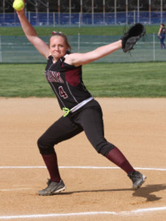 Red Bank pitcher Katie Serkus