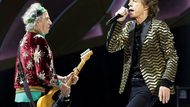 Rolling Stones vocalist Mick Jagger and guitarist Keith Richards are seen during a November performance in Sydney, Australia.