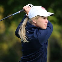 Brookfield East's Maddie Krogwold competes in the WIAA Brookfield Central regional at Wanaki Golf Course in Menomonee Falls on Sept. 28.