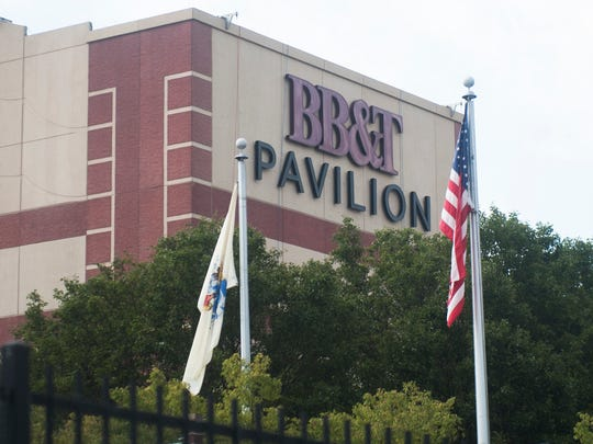 Exterior of the BB&T Pavilion in Camden.  08.06.16