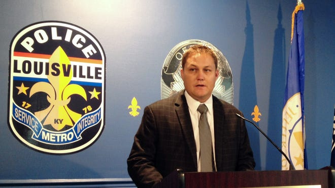 Louisville Metro Police Department Homicide Lt. Todd Kessinger addresses the media Tuesday morning regarding the charges against Trey Anderson and Michael Dunn, both charged with murder, attempted murder, and wanton endangerment for their role in the fatal shooting of 1-year-old Ne'riah Miler Aug. 27.
