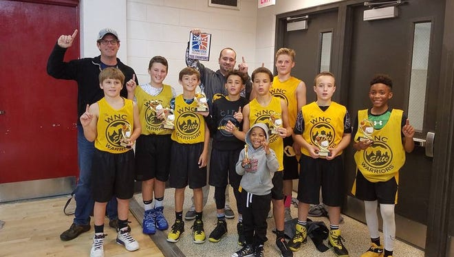 The Western North Carolina Warriors won the Tennessee Premier Tipoff's sixth-grade division over the weekend in Johnson City, Tenn.