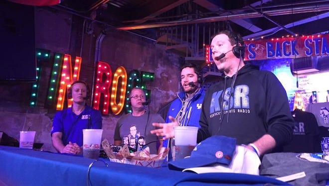 The Kentucky Sports Radio crew broadcasts live from Tin Roof on Broadway on Friday morning.