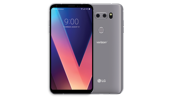 The LG V30's display is stunning, and it has a headphone