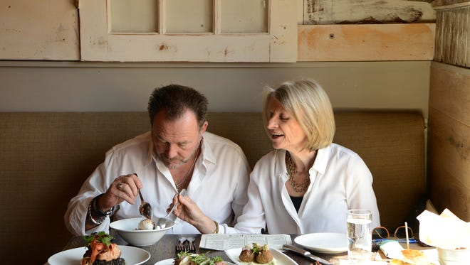 Morristown food crawl with Chef Tim Schafer and Esther Davidowitz on Tuesday May 01, 2018.