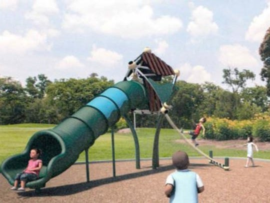 A proposed play structure for Brentwood Park in San