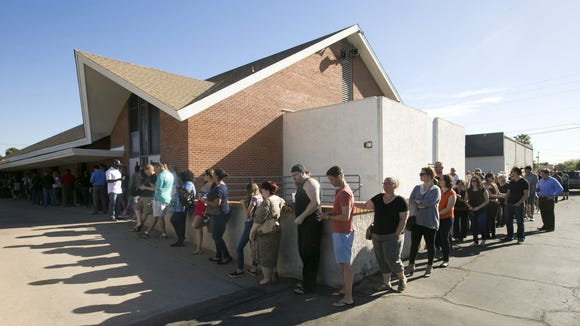 Fewer places and long voting lines are a few of the