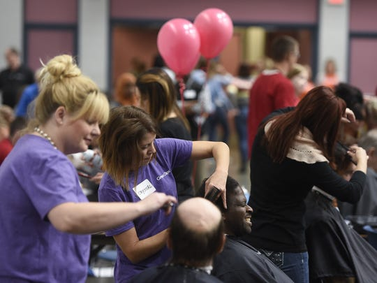 Free hair cuts were a big hit during the 2016 Project Connect event at the River's Edge Convention Center in St. Cloud.