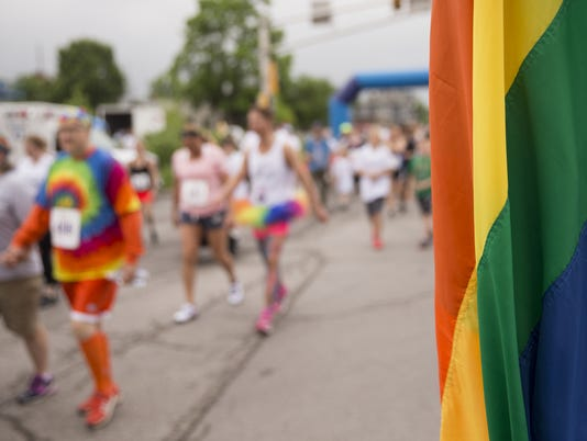Rainbow 5K, a run/walk on the north side of downtown. The event is sponsored by Indy Pride, and is in advance of the 2018 Pride Festival and Parade on June 9.