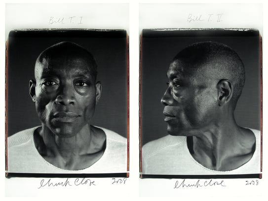 Chuck Close's created this portrait series, 'Bill T.